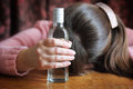 image photo : Alcohol addiction