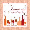 Alcohol bar or restaurant menu background design Royalty Free Stock Images