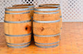 Alcohol barrels four wooden traditional fermentation Royalty Free Stock Images
