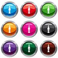 Alcohol bottle set 9 collection Royalty Free Stock Photo
