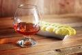 Alcohol brandy set glass and carafe