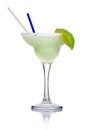 Alcohol cocktail 'margarita' isolated on white Royalty Free Stock Images