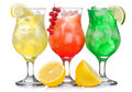 Alcohol cocktails Stock Images