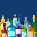 Alcohol Drink, Bottle Set Collection Royalty Free Stock Photo