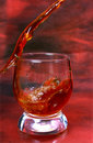 Alcohol drink pouring into glass Royalty Free Stock Photography