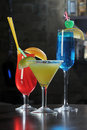 Alcohol Drinks on a Bar Royalty Free Stock Photo