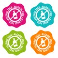 Alcohol free Badges. Eps10 Vector.