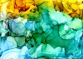 Alcohol ink texture. Fluid ink abstract background. art for design Royalty Free Stock Photo