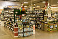 Alcohol liquor in store huge selection of supermarket fred meyer washington washington just passed the law allowing supermarkets Royalty Free Stock Photos