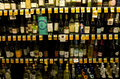 Alcohol liquor wine grocery store variety of in a supermarket near seattle Stock Images