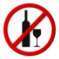 Alcohol not allowed d render of sign Royalty Free Stock Images