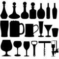 Alcohol objects Royalty Free Stock Images