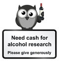 Alcohol research monochrome comical sign isolated on white background Royalty Free Stock Photo