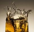 Alcohol splash a of beverage Stock Photo