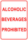 Alcoholic Beverages Sign Royalty Free Stock Photography
