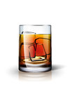 Alcoholic drink with ice detailed vector illustration in the original vector file transparent glass Stock Photo