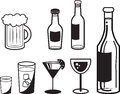 Alcoholic Drink Outlines