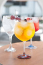 Alcoholic drinks with ice drink in a bar Stock Image