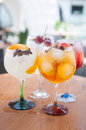 Alcoholic drinks with ice drink in a bar Stock Images