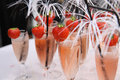 Alcoholic drinks a lot of with a strawberry Royalty Free Stock Image