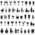 Alcoholic icons.