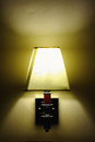 Alcoholics lamp with yellow light Royalty Free Stock Photos