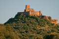 Alconchel castle hill from alor mountains extremadura spain Royalty Free Stock Images