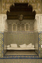 Alcove with Arabian mosaics Royalty Free Stock Images