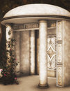 The alcove fantasy background for design projects Royalty Free Stock Photo