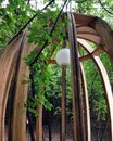 Alcove in a green foliage Stock Photos
