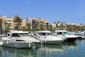 Alcudia harbor in spain bay majorca th august bay resort and on the th august this is a popular tourist destination every Stock Photography