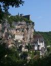 Aldea del peregrino de Rocamadour Foto de archivo libre de regalías