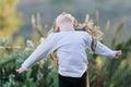 A alegria de uma criança Imagem de Stock Royalty Free