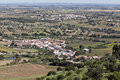 Alentejo plains and villages view of the rolling hills rural communities in the of portugal Royalty Free Stock Image
