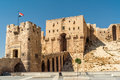 Aleppo citadel entrance to the Stock Photo