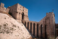Aleppo citadel gate of the in alappo syria photo taken on october Stock Photos