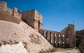 Aleppo citadel gate of the in alappo syria photo taken on october Royalty Free Stock Images
