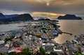 Alesund amazing city in west coast of norway Royalty Free Stock Images