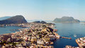 Alesund norway the famous and beautiful seaport of Stock Image