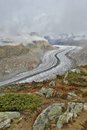Aletsch glacier landscape shot of the in switzerland Stock Images