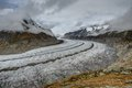Aletsch glacier landscape shot of the in switzerland Royalty Free Stock Images