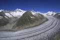 Aletsch glacier in southern switzerland the largest in europe view from eggishorn Stock Photography