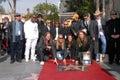 Alex Orbison, Barbara Orbison, Chris Isaak, Dan Aykroyd, Idle del Eric, Jeff Lynne, Joe Walsh, Phil Everly, Roy Orbison Fotografie Stock