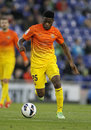 Alex song of fc barcelona during the spanish league match between espanyol and at the estadi cornella on may in Royalty Free Stock Photo