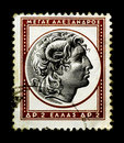 Alexander The Great on Greek Stamp Stock Photo