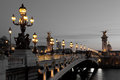 Alexander III bridge, Paris Royalty Free Stock Photo