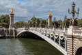 Alexander III Bridge Paris France Royalty Free Stock Photo
