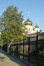 Alexander Nevsky Cathedral, the main Orthodox church in Krasnodar, which was destroyed in 1932 and rebuilt in 2006. Royalty Free Stock Photo