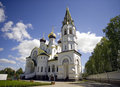 The alexander nevsky cathedral the moscow diocese bell tower princely lake village Stock Images