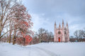 Alexander nevsky cathedral peterhof russia de winter Stock Foto's
